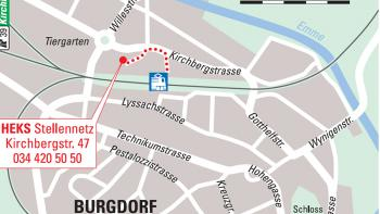 Situationsplan Kirchbergstrasse 47 in Burgdorf